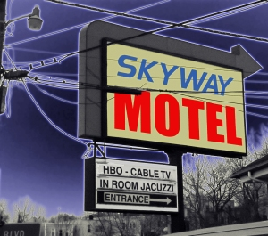 skykine motel colorized